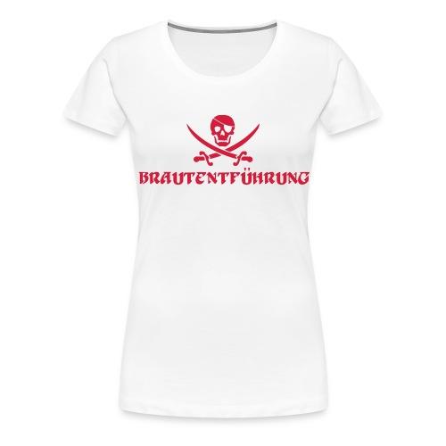 Brautentführung Piratenflagge Junggesellinnen - Frauen Premium T-Shirt
