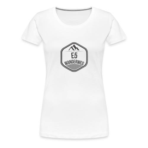 Wanderweg E5 Logo - Frauen Premium T-Shirt