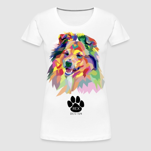 Happy Little Sheltie - Women's Premium T-Shirt