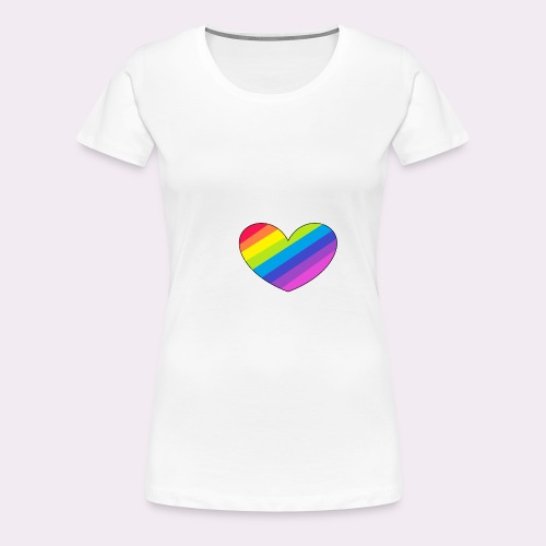 rainbow heart - Women's Premium T-Shirt