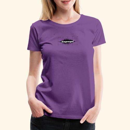Gageego logga vit text - Premium-T-shirt dam