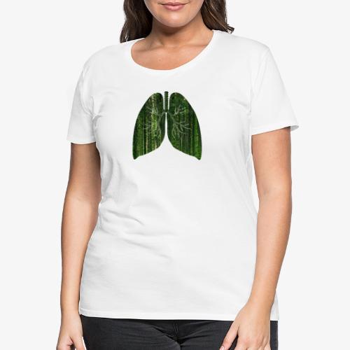 Longen van de aarde - Vrouwen Premium T-shirt