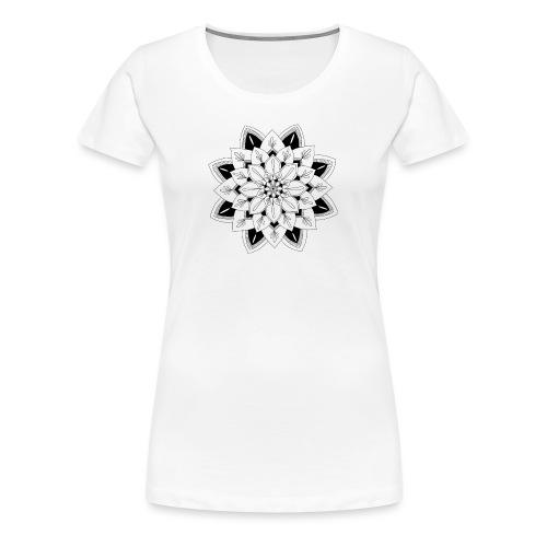 Mandala interior - Camiseta premium mujer