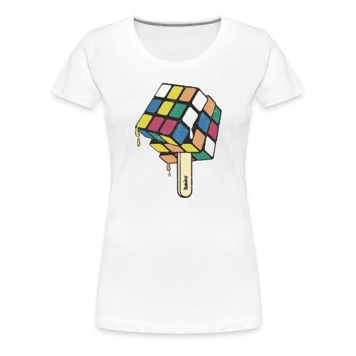 Rubik's Cube Bâtonnet Glacé - T-shirt Premium Femme