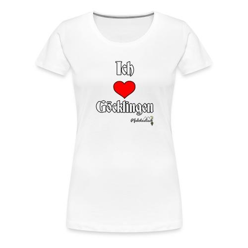Ich herz Goecklingen - Frauen Premium T-Shirt
