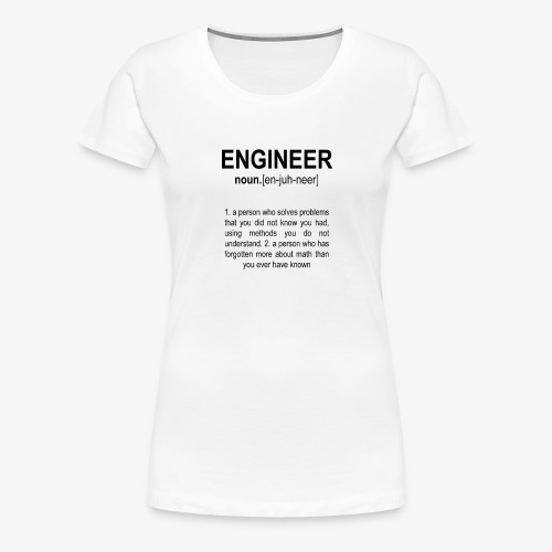 Engineer Def. 2 Black - T-shirt Premium Femme