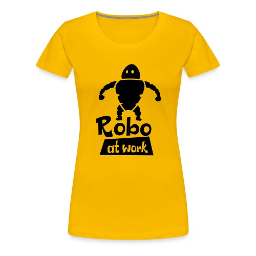 robot at work - Frauen Premium T-Shirt