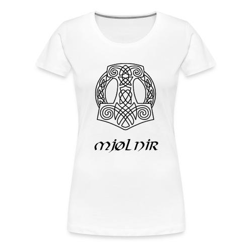 Mjølnir1 - Dame premium T-shirt