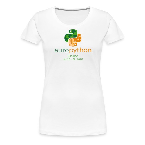 EuroPython 2020 - Vertical Color Logo - Women's Premium T-Shirt