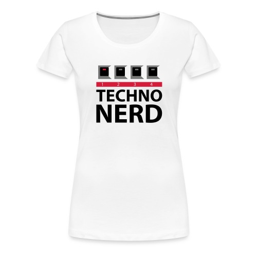Techno Nerd - Women's Premium T-Shirt