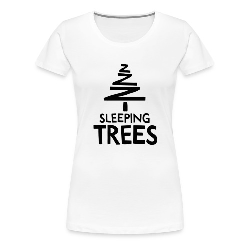 SleepingTrees Black png - Women's Premium T-Shirt