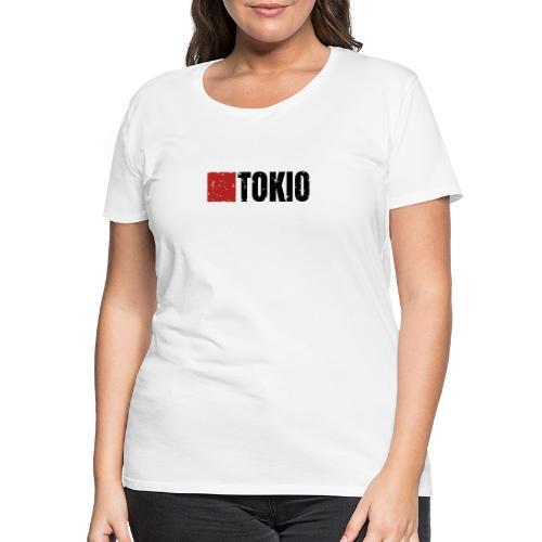 00160 Casa Papel Tokio negro - Camiseta premium mujer