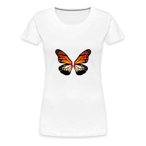 Butterfly wings On Fire - Premium T-skjorte for kvinner