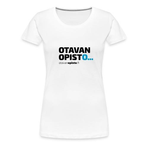 logo urlilla sininen O - Naisten premium t-paita