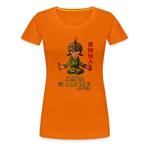 Mr. Fastfinger - cartoon guitar hero - Women's Premium T-Shirt