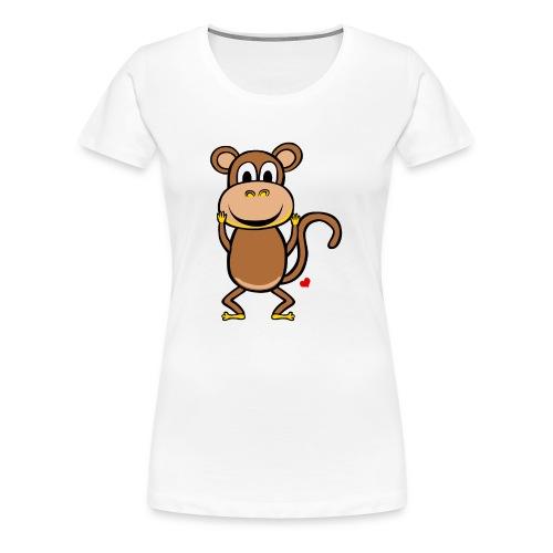 Kocham Małpę - Biały napis - Koszulka damska Premium