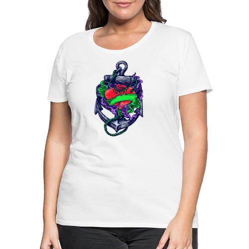 Herz mit Anker - Frauen Premium T-Shirt