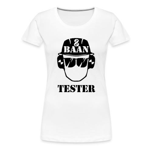 Achtbaan tester tshirt van Baas Bots - Vrouwen Premium T-shirt