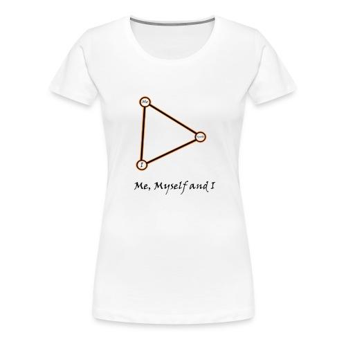 Me, Myself and I naranja - Camiseta premium mujer