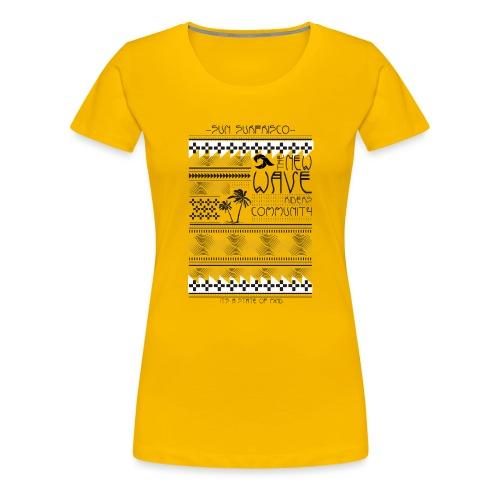 etno surf print - Naisten premium t-paita