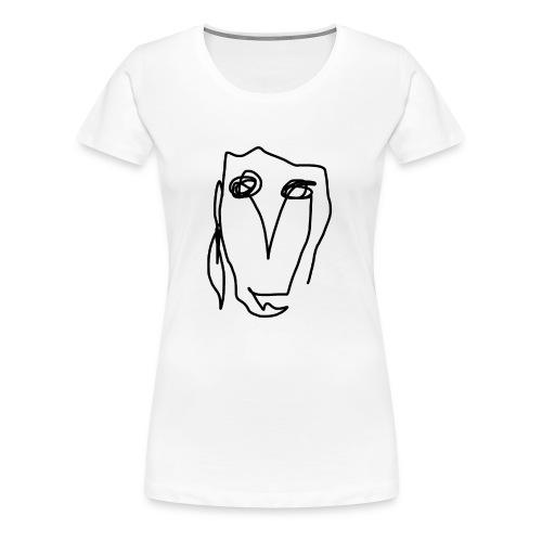 Kunst Gesicht - Frauen Premium T-Shirt