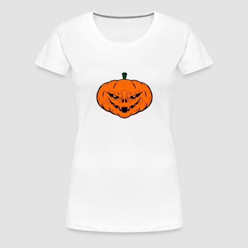 Evil Halloween Pumpkin - Women's Premium T-Shirt