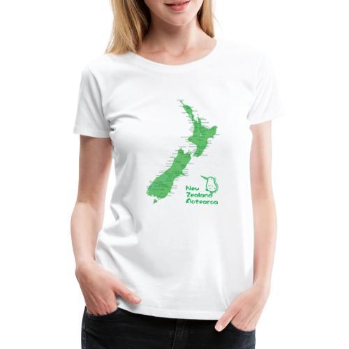 New Zealand's Map - Women's Premium T-Shirt