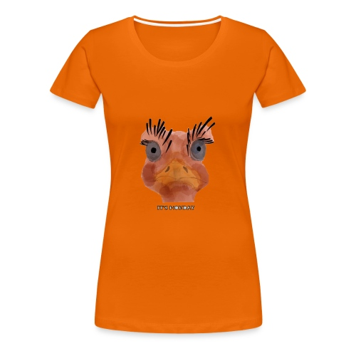 Srauss, again Monday, English writing - Women's Premium T-Shirt