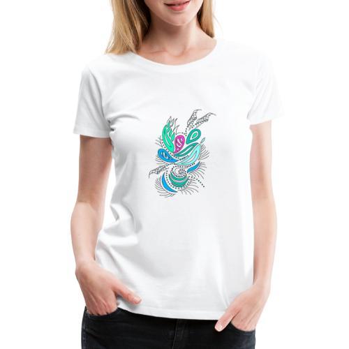 abstrakte mehrfarbige Blätter - Frauen Premium T-Shirt