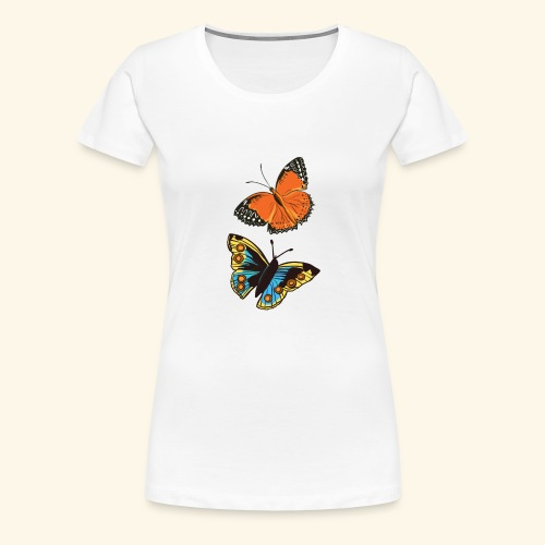 2 papillons - T-shirt Premium Femme