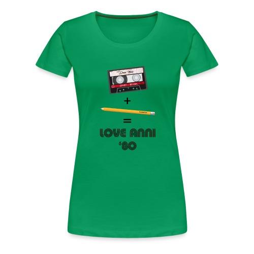 Maglietta love anni 80 - Maglietta Premium da donna