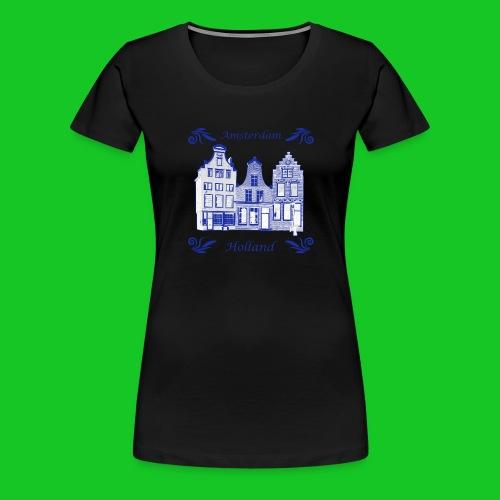 Holland Grachtenpanden Delfts Blauw - Vrouwen Premium T-shirt