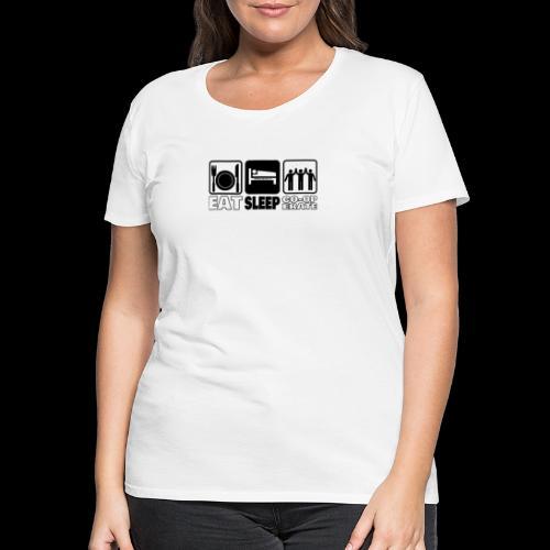 Eat Sleep Co op png - Women's Premium T-Shirt