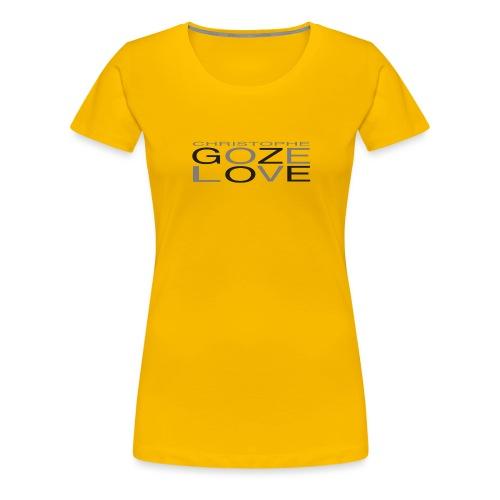 GOZE LOVE DESIGN - Women's Premium T-Shirt