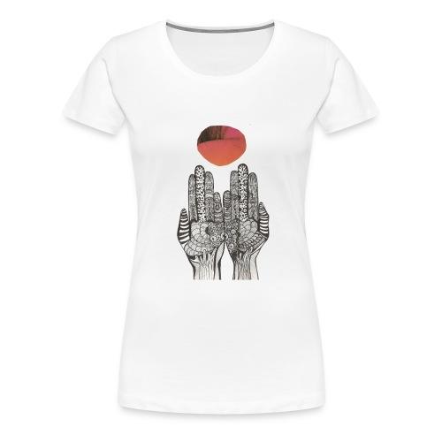HAND FLÄCHE - Frauen Premium T-Shirt