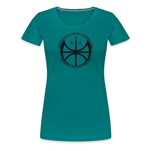 Svart NAF logo - Premium T-skjorte for kvinner