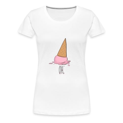 Gelato rosa caduto a terra - Maglietta Premium da donna