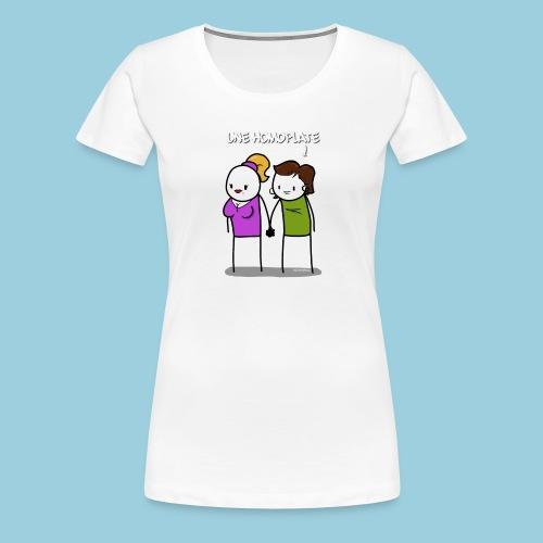 Homoplate blanc - T-shirt Premium Femme