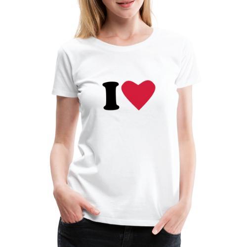 I heart - Premium T-skjorte for kvinner