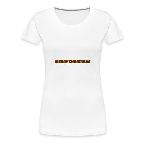 Merry Christmas logo - Women's Premium T-Shirt