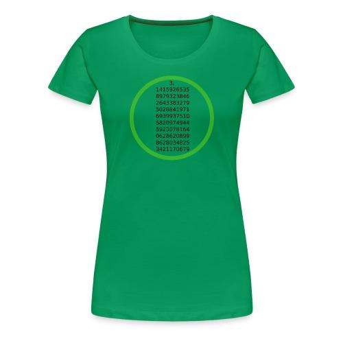 Number Pi Green Circle - Naisten premium t-paita
