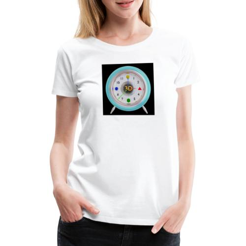 3D O' Clock with 3D engine and objects. - Women's Premium T-Shirt