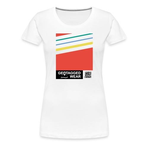 Unisex Stripes Pantone Colored - Frauen Premium T-Shirt