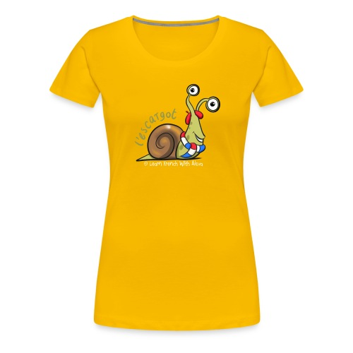 snail boopee white large - Women's Premium T-Shirt