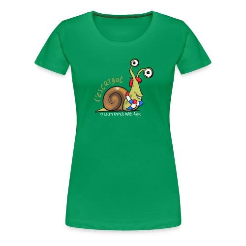 snail boopee white large - Women's Premium T-Shirt