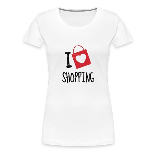 I Love Shopping - Koszulka damska Premium
