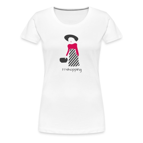I Love Shopping - T-shirt Premium Femme