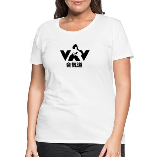 aikido zwart - Vrouwen Premium T-shirt