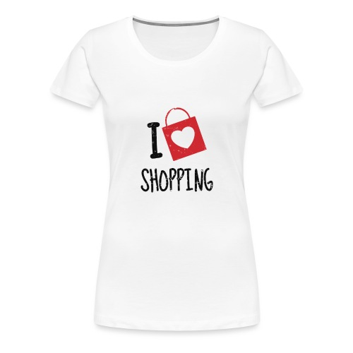 Me encanta ir de compras - Camiseta premium mujer
