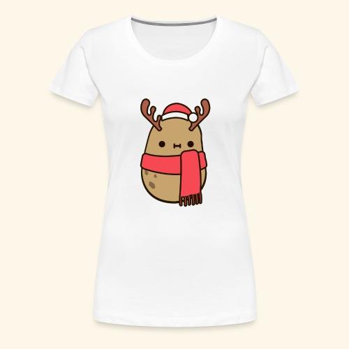 Papa Navideña - Camiseta premium mujer